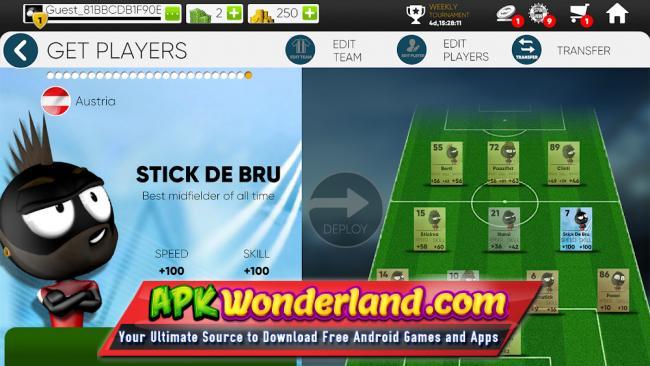 Stickman Soccer 2018 Apk Mod Free Download for Android - APK Wonderland