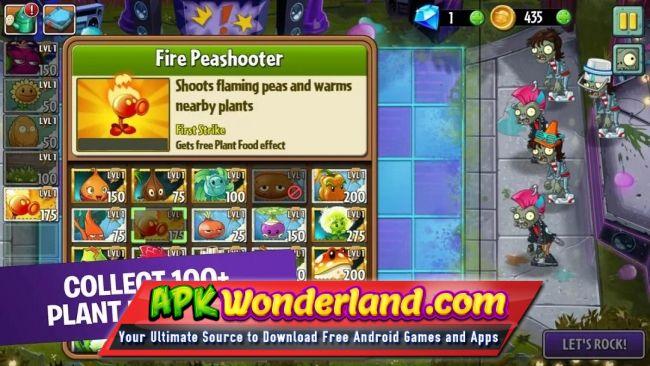 Plants vs. Zombies free apk + mod 2. 9. 00.