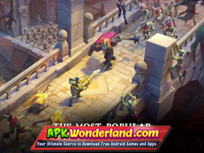 download magic rush heroes mod apk android 1