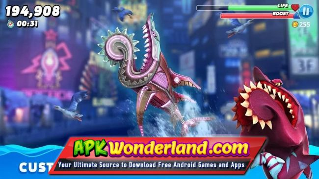 Hungry Shark World 3.7.0 Apk Mod Free Download for Android - APK Wonderland